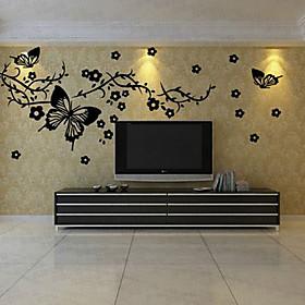 Floral pegatinas 3D, Pegatinas de pared desmontable