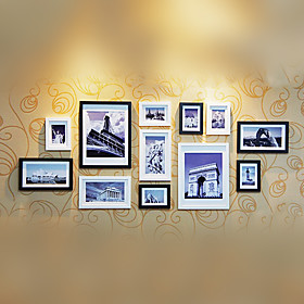 Modern Style Photo Wall Frame Collection - Set of 12