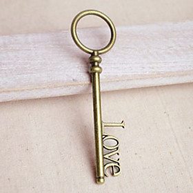"Key to Your Heart"" Bronze Pendant for Keychain - Set of 20"