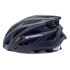 MOON Adults Bike Helmet 25 Vents Impact Resistant EPS, PC Sports Road Cycling / Cycling / Bike / Mountain Bike / MTB - Black Men's / Women's