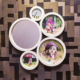 Modern Style Photo Wall Frame Collection with Mirror