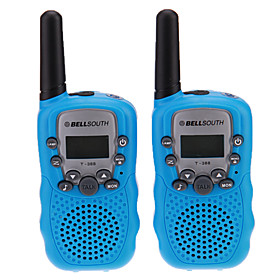 "Pair of T-388 Lovers Talking Mini 8KM Handheld  1"" LCD Screen Walkie Talkie Two Way Radio with Flashlight"