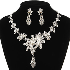 Jewelry Set Women's Anniversary / Wedding / Engagement / Birthday / Gift / Party / Special Occasion Jewelry Sets Alloy Rhinestone 983933