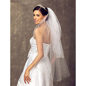 Three-tier Fingertip Wedding Veil