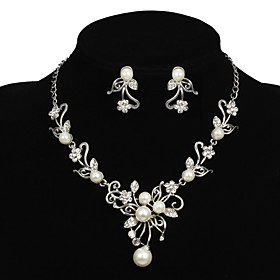 Jewelry Set Women's Anniversary / Wedding / Engagement / Birthday / Gift / Party / Special Occasion Jewelry Sets AlloyImitation Pearl / 983913
