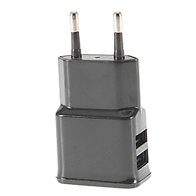 2 Dual USB Ports Charger Adapter EU Plug for SamsungiPhone Smartphone Device