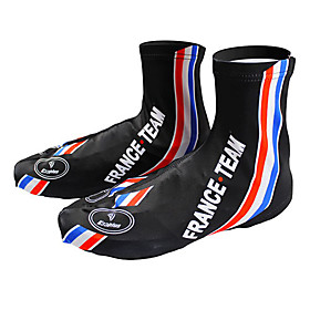 KOOPLUS - French National Team PolyesterLycra BlackBlue Cycling Shoes Cover