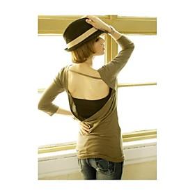 V-Neck T-shirt dos nu longue des femmes