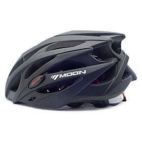 MOON Adults Bike Helmet 21 Vents Impact Resistant, Light Weight EPS, PC Sports Road Cycling / Recreational Cycling / Cycling / Bike - Black