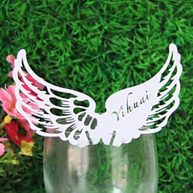 Angel Wing Placecard for Wine Glass - Sett med 12