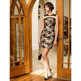 TS Couture Cocktail Party / Holiday / Company Party / Family Gathering Dress - Short Plus Size / Petite Sheath / Column Jewel Short / Mini Lace with plus size,  plus size fashion plus size appare