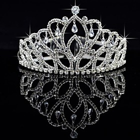 Gorgeous Alloy With Czech Rhinestones Wedding Tiara