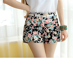 Women's Flower Print Shorts