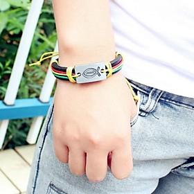 Europese 24cm Heren Multicolor Armband van het Leer (1 Pc)