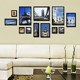 Black Photo Wall Frame Collection Set of 12