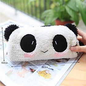 Lovely Black And White Panda Fabric Multipurpose Wallet(1 Pc)