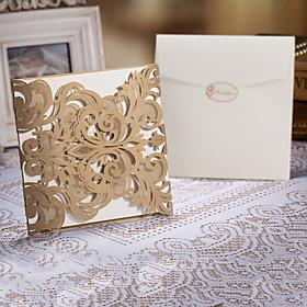 Delikat Laser Cut Wedding Invtitaiton - Sett med 50