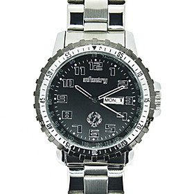 Ny Infantry Military Herre Army Quartz Date Day Stainless Steel Strap Vandt?t Watch (stainless Steel Strap)