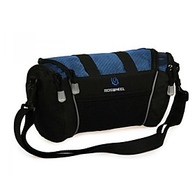 Cycling Polyester Dark Blue Waterproof Wearproof Large Space Bicycle Handlebar Bag Bike Bag