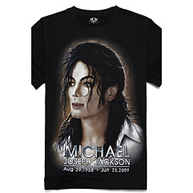 Men's 3D Michael Jackson Print Short Sleeve T-shirt