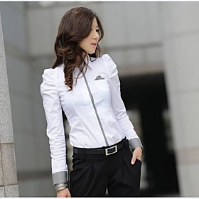 Women `s Casual Long Sleeve Puff armer