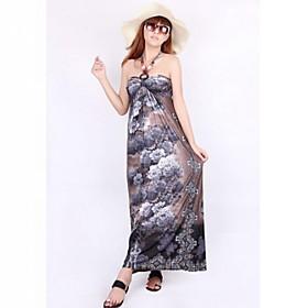 Bohême Floral long Halter Dress
