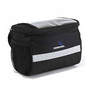 Cycling 600D Nylon Transparent PVC Waterproof Thermal Insulation Design Bicycle Handlebar Bag