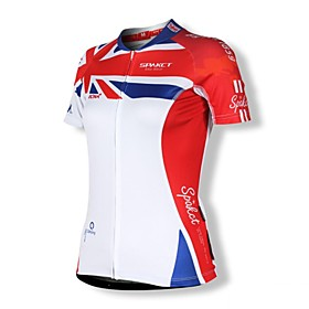 100% poliestere manica corta Quick Dry Cycling Jersey delle donne Spakct