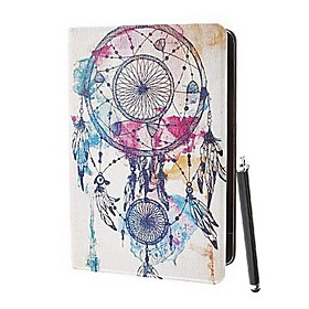Feathers in The Air Coloured Drawing Pattern PU Leather Full Body Case with Stand and A Stylus Touch Pen for iPad 2/3/4