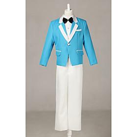 Blue Polester/Cotton Blend Ring Bearer Suit - 4 Pieces Includes Jacket / Shirt / Pants / Bow Tie plus size,  plus size fashion plus size appare