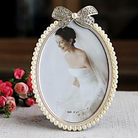 Vintage Delicate Pearls Bowknot Desktop Picture Frames
