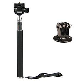 Black Monopod with Mount Adapter