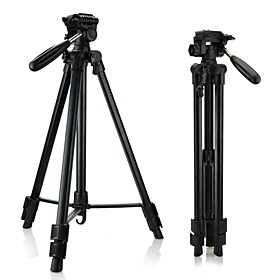 DSTE Total length 160cm Retractable Tripod three-dimensional PTZ for Camera / Camcorder - Black
