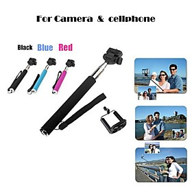 Portable Handheld Self-Portrait Monopod for Camera Mobilephone