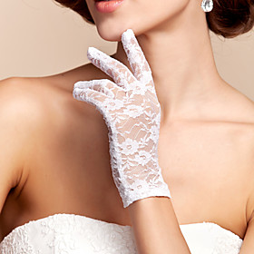 Wrist Length Fingertips Glove Lace Bridal Gloves Spring Summer Fall