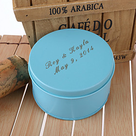 Personlig Bl? Wedding Favor Tins - S?t med 12
