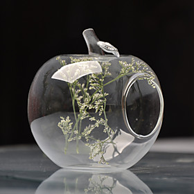Apple Shaped Glass Vase
