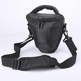 Caden Vandt?t Nylon Triangle Kamerataske Til Canon 1100d 550d Nikon D5200 D3000d Pentax Dslr Kamera Sort