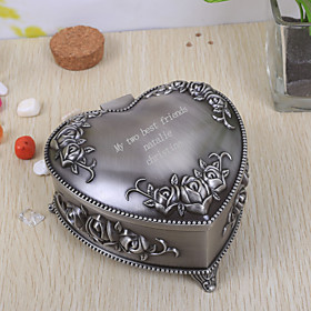 Gifts Bridesmaid Gift Personalized Vintage Heart Shaped Tutania Jewelry Box plus size,  plus size fashion plus size appare