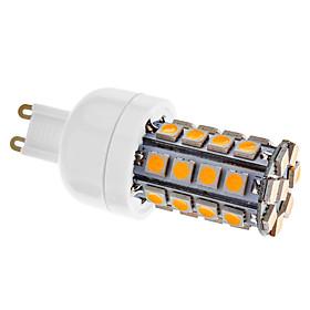 Dimmable G9 5W 36xSMD 5050 480LM 3000-3500K Warm White Light LED Corn Bulb(AC 220-240V)