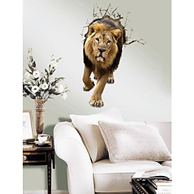 3D The Lion Wall Stickers Wall Decals