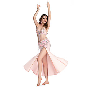 Belly Dance Skirts Women's Performance Spandex Beading / Sequins / Split Front 1 Piece Skirt plus size,  plus size fashion plus size appare
