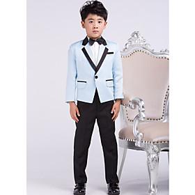 Satin Ring Bearer Suit - 4 Pieces Includes Jacket / Shirt / Pants / Bow Tie plus size,  plus size fashion plus size appare