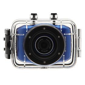 Casco HD Digital Video Camcorder Fotocamera Waterproof Sport DV 1280 720 Blue nuovo