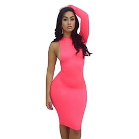 Kvinder europ?iske American Style Single Strap Bodycon Bandage Dress