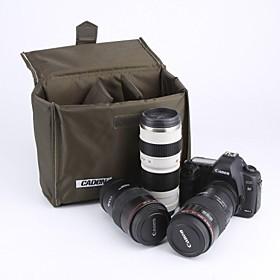 Caden Vandt?t Folded?r Polstret Foam Divider Protection Taske Til Canon Sony Nikon Dslr Kamera Army Gr?n