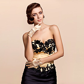 Wrist Length Fingertips Glove Satin Bridal Gloves Party/ Evening Gloves Spring Summer Fall Bow