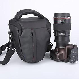 Caden Vandt?t Nylon Triangle Kamerataske Til Canon 60d 5d 7d Nikon D90 D700 D7100 Dslr Kamera Sort