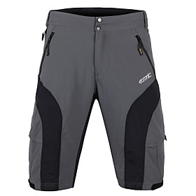 SANTIC Cycling Shorts Men's Bike Baggy Shorts Shorts MTB Shorts Bottoms Bike Wear Breathable 4D Pad Limits Bacteria Lightweight Solid 1192224