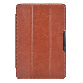 Crazy Horse Style Magnetic Button Closure Slim Smart PU Leather Cover Case for Amazon Kindle Fire HDX 7